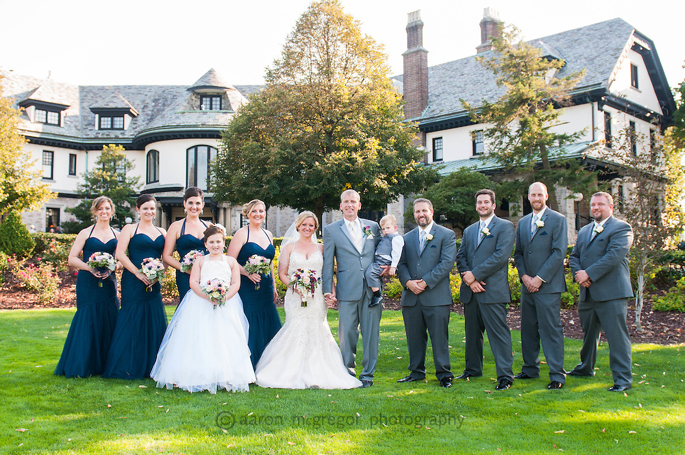Linden Hall provides a wonderful backdrop for a wedding in September
