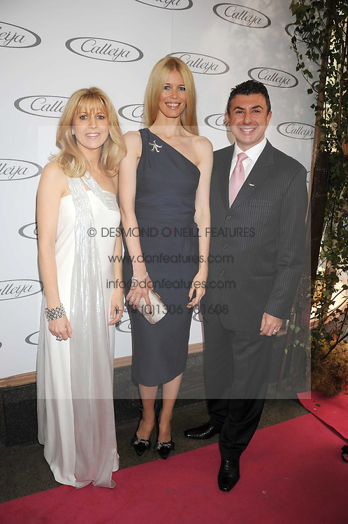 Australian award winning jewellery designer John Calleija and special guest Claudia Schiffer hosted the launch party of Calleija's new London store in the Royal Arcade, Old Bond Street, London on 24th June 2008.<br /><br />Picture shows:- NONI CALLEIJA, CLAUDIA SCHIFFER and JOHN CALLEIJA.