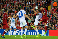 LIVERPOOL, ENGLAND - Wednesday, August 23, 2017: Liverpool's Dejan Lovren during the UEFA Champions League Play-Off 2nd Leg match between Liverpool and TSG 1899 Hoffenheim at Anfield. (Pic by David Rawcliffe/Propaganda)