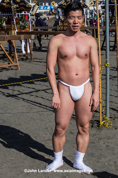 """Until the Edo period Japanese fundoshi loincloths were almost universally used as underwear by Japanese men.  By the end of WWII and increased westernization, fundoshi were common among most Japanese men.  During the postwar occupation of Japanese, foreigners were surprised that men walked around town revealing their bottoms. Laws were enacted, prior to the 1964 Tokyo Olympics regulating nakedness in public places.  As a result began to believe that the fundoshi loincloth was a vulgar thing to wear, even as underpants. Modern Japanese have come to  tend to think that the fundoshi loincloth, is a embarrassing item.  People generally have the image of the fundoshi as old, conservative or generally uncool, and only suitable for wearing at summer festivals.  Even though fundoshi are used by sumo wrestlers, and are common even today during festivals, they are mostly popular only with Japanese gays of a certain type.  However, some people value fundoshi as cool, healthy and comfortable underwear.  There are a few types of fundoshi.  The most common is called rokushaku, which literally means """"six shaku"""" or 180 cm. There are also etchu, kuroneko and mokko styles.  Fundoshi are normally made of cotton, though linen or silk crepe is also used."""