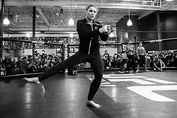 Los Angeles, California, USA - February 25, 2015: Ronda Rousey works out at the UFC Gym for her upcoming bout against Cat Zingano at UFC 184 at the Staples Center in Los Angeles, California.  Ed Mulholland for ESPN