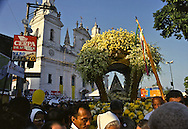 The procession leaves the Catedrale da Sé where the opening Mass has just been celebrated.