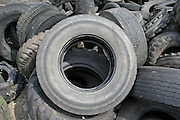 round tyre on heap
