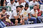 DESCRIZIONE : Campionato 2014/15 Serie A Beko Dinamo Banco di Sardegna Sassari - Grissin Bon Reggio Emilia Finale Playoff Gara6<br /> GIOCATORE : Salvatore Sirigu Luigi DaTome<br /> CATEGORIA : Tifosi Pubblico Spettatori VIP<br /> SQUADRA : Dinamo Banco di Sardegna Sassari<br /> EVENTO : LegaBasket Serie A Beko 2014/2015<br /> GARA : Dinamo Banco di Sardegna Sassari - Grissin Bon Reggio Emilia Finale Playoff Gara6<br /> DATA : 24/06/2015<br /> SPORT : Pallacanestro <br /> AUTORE : Agenzia Ciamillo-Castoria/L.Canu