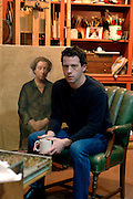 Jacob Collins, painter, in his studio