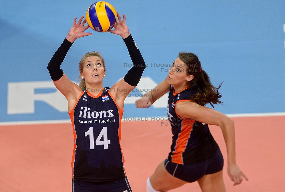 07-01-2016 TUR: European Olympic Qualification Tournament Nederland - Kroatie, Ankara<br /> Nederland verslaat Kroatië met 3-0 en gaat als groepswinnaar de halve finale in /