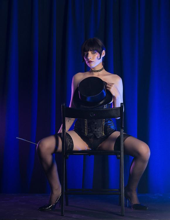 Published in NIF Magazine, Summer 2015; Model: Dorrie Mack; Makeup and hair: Coral Brandenburg; Designer and stylist: Eva Mocek/GearPunk'D; Assistant: Anique Alletson; Photographer and Artistic Director: Bruce Walker;