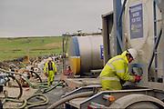 Tankering water into the near empty Scammonden reservoir in Yorkshire. 16-11-1995
