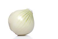 Studio shot of onion on white background