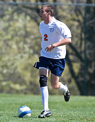 Virginia Cavaliers midfielder/defender Jordan Evans (2).  The North Carolina State Wolfpack defeated the Virginia Cavaliers 1-0 in NCAA Men's Soccer during a spring scrimmage at the Klockner Stadium practice field on the Grounds of the University of Virginia in Charlottesville, VA on April 4, 2009.