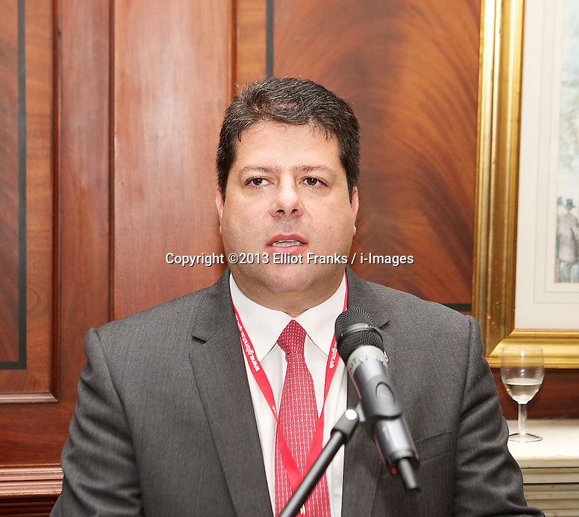 Labour Party Conference.<br /> Fabian Picardo Chief Minister of Gibraltar speaking at a fringe meeting <br /> during the Labour Annual Conference at the Brighton Conference Centre, Brighton, United Kingdom. Monday, 23rd September 2013. Picture by Elliot Franks / i-Images