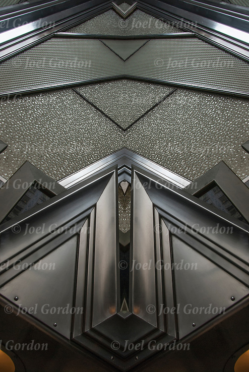 Mirror horizontal of Chrysler Building Zig-Zag details. <br />