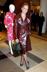 LADY ELOISE ANSON at a party hosted by Burberry to launch their special collection in aid of Breakthrough Breast Cancer, held at 21-23 New Bond Street, London W1 on 5th October 2004.<br />