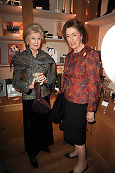 Left to right, HRH PRINCESS ALEXANDRA and HM the Queen's Lady in Waiting LADY SUSAN HUSSEY at a party to celebrate 25 years of the David Linley store , 60 Pimlico Road, London on 16th November 2010.