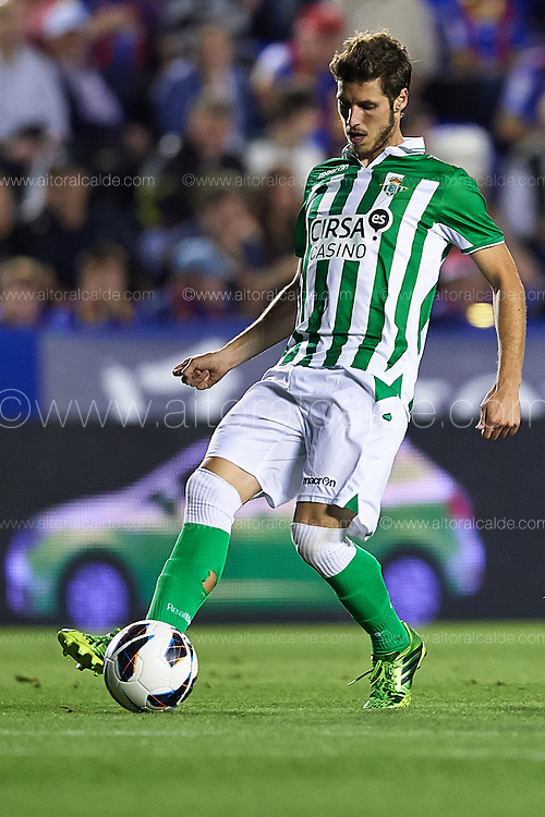 VALENCIA, SPAIN - JUNE 01: Ruben Perez of Real Betis Balompie in action during the Liga BBVA between Levante UD and Real Betis Balompie at the Ciutat de Valencia stadium on June 01, 2013 in Valencia, Spain. (Photo by Aitor Alcalde Colomer).