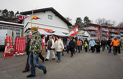 Fans going home after the canceled qualifications of the FIS Ski Jumping World Cup event of the 58th Four Hills ski jumping tournament, on January 2, 2010 in Bergisel, Innsbruck, Austria.(Photo by Vid Ponikvar / Sportida)