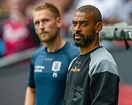 Cheftræner David Nielsen (AGF) under kampen i 3F Superligaen mellem FC København og AGF den 19. juli 2019 i Telia Parken (Foto: Claus Birch).