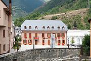 Municipality building at Vielha e Mijaran, Aran, Catalonia, Pyrenees, Spain