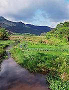 Verdant valley behind Con Son town.