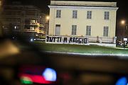 PARMA 2016-12-22:  REPORTAGE PARMA CALCIO.<br /> En banderoll med texten &quot;Tutti a Reggio&quot;. Syftar p&aring; bortamatchen mellan Reggio och Parma den 19/12.<br /> Foto: Nils Petter Nilsson