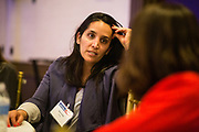 Hila Gafni of JFrog socializes during the Bay Area Corporate Counsel Awards at The Westin San Francisco Airport in Millbrae, California, on March 18, 2019. (Stan Olszewski for Silicon Valley Business Journal)
