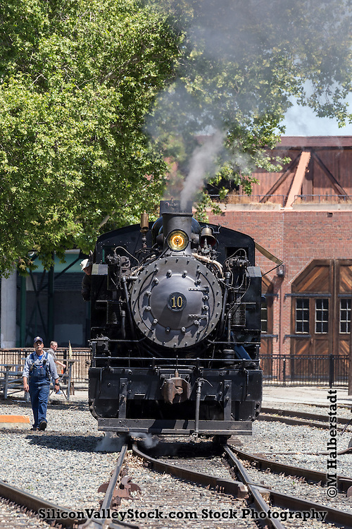 Train in Old Town Sacramento Area