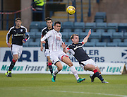 Dundee&rsquo;s Paul McGowan clears from Ross County&rsquo;s Tim Chow - Dundee v Ross County in the Ladbrokes Scottish Premiership at Dens Park, Dundee. Photo: David Young<br /> <br />  - &copy; David Young - www.davidyoungphoto.co.uk - email: davidyoungphoto@gmail.com