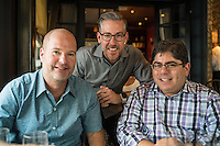 Light.co's Dave Granna, Bradley Lautenbach and Michael Rubin a week after the launch of the L16 camera.