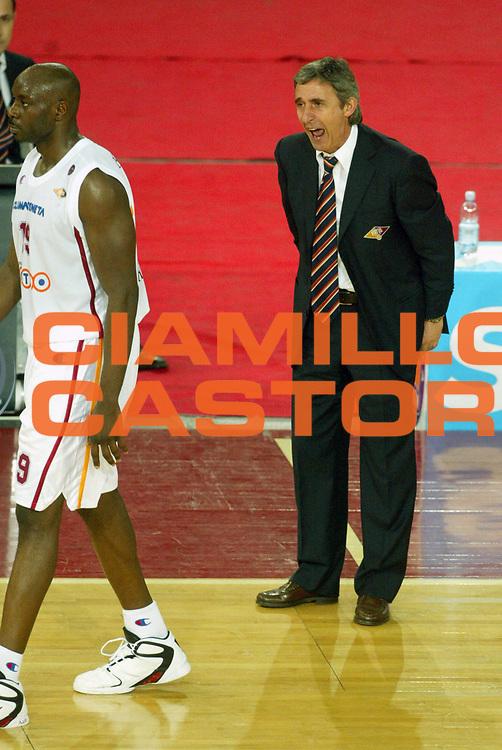 DESCRIZIONE : Roma Lega A1 2005-06 Lottomatica Virtus Roma Basket Livorno <br /> GIOCATORE : Ekezie Pesic <br /> SQUADRA : Lottomatica Virtus Roma <br /> EVENTO : Campionato Lega A1 2005-2006 <br /> GARA : Lottomatica Virtus Roma Basket Livorno <br /> DATA : 04/02/2006 <br /> CATEGORIA : Delusione <br /> SPORT : Pallacanestro <br /> AUTORE : Agenzia Ciamillo-Castoria/G.Ciamillo