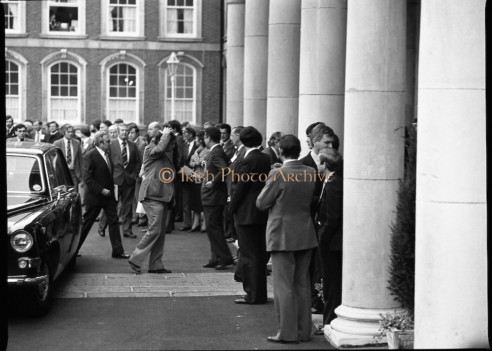 EEC Leaders Meet At Dublin Castle.   (N4)..1979..29.11.1979..11.29.1979..29th November 1979..At Dublin Castle the leaders of the countries within the EEC held a summit conference to discuss issues which would affect the EEC over the forthcoming years.