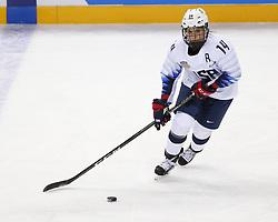 February 11, 2018 - Pyeongchang, KOREA - United States forward Brianna Decker (14) during the women's hockey group A play during the Pyeongchang 2018 Olympic Winter Games at Kwandong Hockey Centre. The USA beat Finland 3-1. (Credit Image: © David McIntyre via ZUMA Wire)