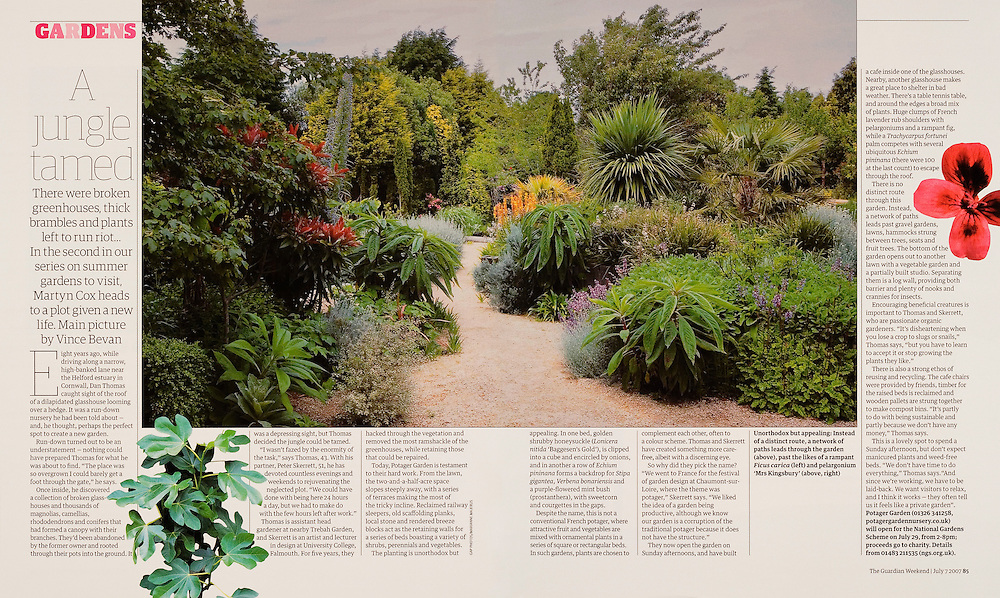 Potager Garden Nursery, commissioned by THE GUARDIAN WEEKEND MAGAZINE.