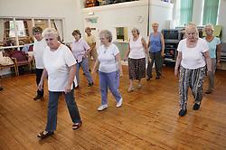 Women in Line Dancing Class,