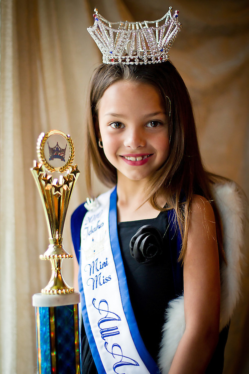 JEROME A. POLLOS/Press..Janessa Riordan, 7, was recently selected as the 2010 Idaho Mini Miss All-American Girl.