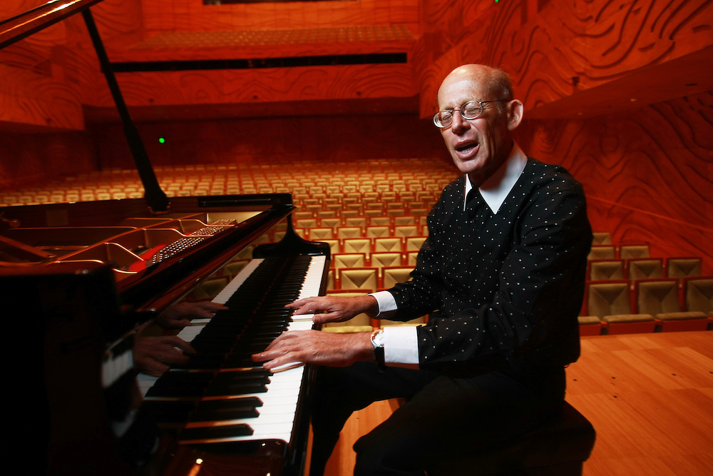 Melbourne Recital Centre, David Helfgott, virtuoso pianist who touches the hearts of all who hear him. The 1996 film SHINE propelled him to worldwide fame.  - Pic By Craig Sillitoe 13/11/2010 melbourne photographers, commercial photographers, industrial photographers, corporate photographer, architectural photographers, This photograph can be used for non commercial uses with attribution. Credit: Craig Sillitoe Photography / http://www.csillitoe.com<br />