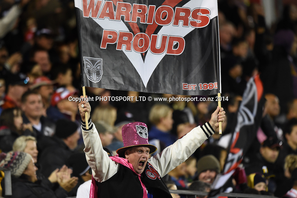 Warriors fans and supporters. Vodafone Warriors v Penrith Panthers. NRL Rugby League. Mt Smart Stadium, Auckland, New Zealand. Sunday 29 June 2014. Photo: Andrew Cornaga/www.Photosport.co.nz