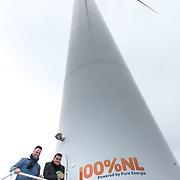 NLD/Waddinxveen/20181127 - Jan Smit en Barry Paf dopen de 100% NL windmolen, Jan Smit en Barry Paf