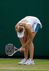 LONDON, ENGLAND - Wednesday, June 25, 2008: Nicole Vaidisova (CZE) during her second round match on day three of the Wimbledon Lawn Tennis Championships at the All England Lawn Tennis and Croquet Club. (Photo by David Rawcliffe/Propaganda)