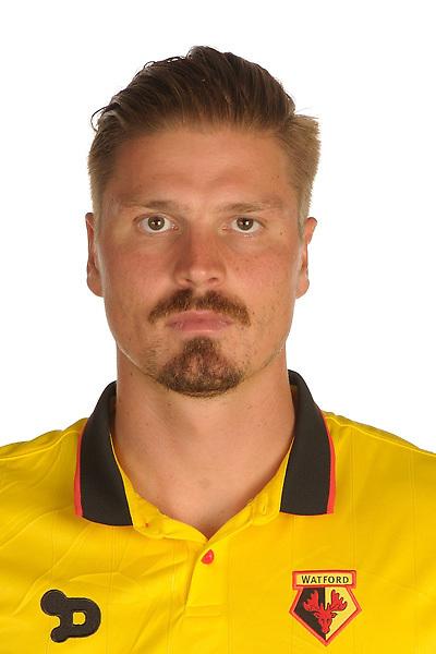 Watford FC Season 2016-17 Premier Lge<br /> Pic Alan Cozzi 02/08/2016<br /> Sopwell House Photocall Headshot's<br /> Watford's Sebastian Prodl
