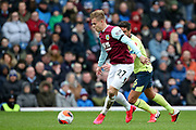 Burnley forward Matej Vydra (27) lines up a shot during the Premier League match between Burnley and Bournemouth at Turf Moor, Burnley, England on 22 February 2020.
