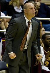February 27, 2010; Berkeley, CA, USA; Arizona State Sun Devils head coach Herb Sendek during the first half against the California Golden Bears at Haas Pavilion. California defeated Arizona State 62-46.