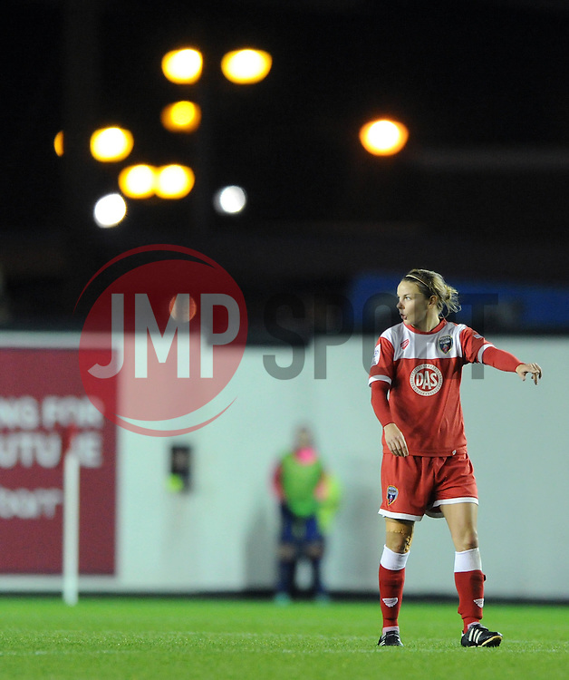 Bristol Academy Womens' Loren Dykes - Photo mandatory by-line: Dougie Allward/JMP - Mobile: 07966 386802 - 13/11/2014 - SPORT - Football - Bristol - Ashton Gate - Bristol Academy Womens FC v FC Barcelona - Women's Champions League