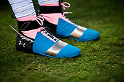 October 17, 2017: Carolina Panthers vs the Philadelphia Eagles. Cam Newton cleats