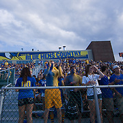 University of Delaware students gear up for the start of  a Week 2 NCAA football game against Westchester. ..#8 Delaware defeated Westchester 31-10  in their home opener at Delaware Stadium Saturday Sept. 10, 2011 in Newark DE...Delaware will return home Sept. 17, 2011 for a showdown with interstate Rival Delaware State at 6:pm at Delaware Stadium. (Monsterphoto/Saquan Stimpson)
