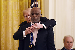 US President Donald Trump awards the Presidential Medal of Freedom to American Football hall-of-famer Alan Page at the White House in Washington, DC, on November 16, 2018. - The Medal is the highest civilian award of the United States. Photo by Olivier Douliery/ABACAPRESS.COM