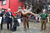 Minister Michael Ring in Cong village for an unveiling of a statue of the lead actors John Wayne and Maureeen O Hara. Picture:Andrew Downes