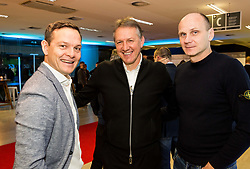 Nenad Protega, Igor Benedejcic and Milan Osterc during Traditional New Year party of of the Slovenian Football Association - NZS, on December 20, 2018 in Gospodarsko razstavisce, Ljubljana, Slovenia. Photo by Vid Ponikvar / Sportida