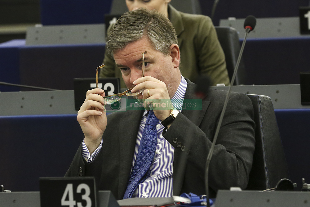 April 18, 2018 - Strasbourg, France - Sir Julian King on April 18, 2018 at the EU parliament in the eastern French city of Strasbourg. (Credit Image: © Elyxandro Cegarra/NurPhoto via ZUMA Press)