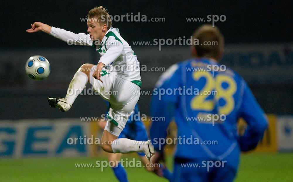 Andrej Dugolin of Olimpija  at football match of 15th Round of Slovenian Prva Liga between NK Domzale vs NK Olimpija, on October 28, 2009, in Sports park Domzale, Domzale, Slovenia.   (Photo by Vid Ponikvar / Sportida)
