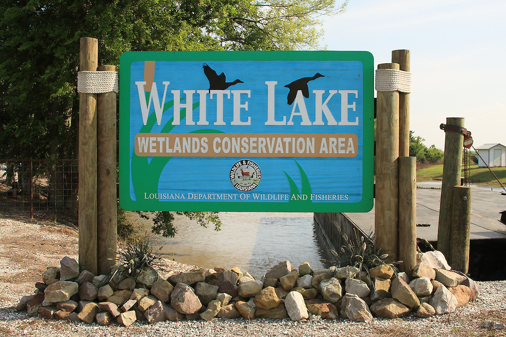 Welcome Sign at Boat Launch and Residence, White Lake WCA